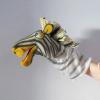 Marioneta de mano cebra