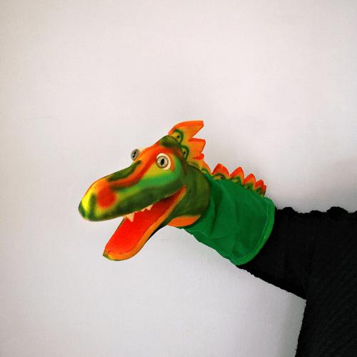 Marioneta de mano dinosaurio