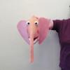 Marioneta de mano elefanta