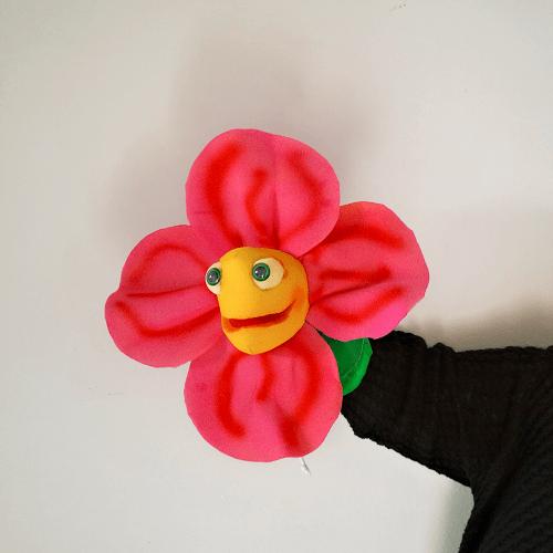 Marioneta de mano flor