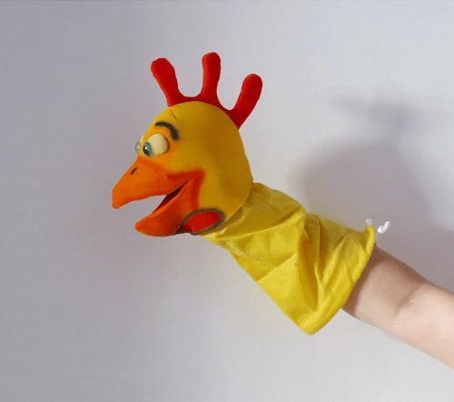 Marioneta de mano gallo