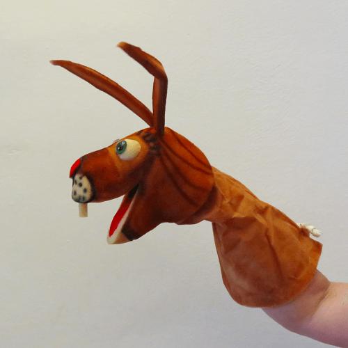 Marioneta de mano conejo