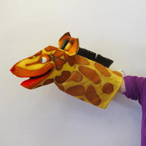 Marioneta de mano jirafa