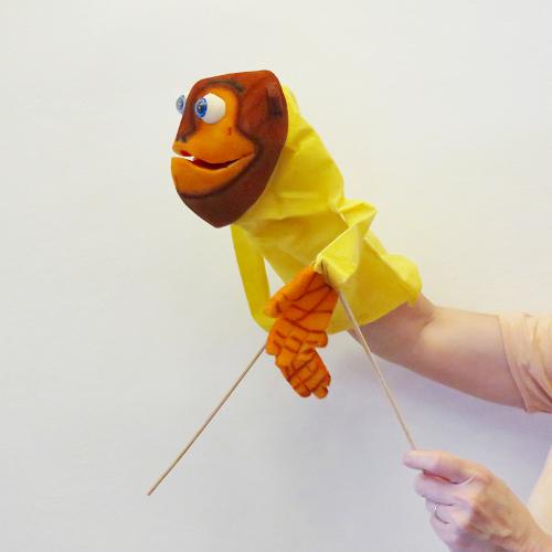 Marioneta de boca mono
