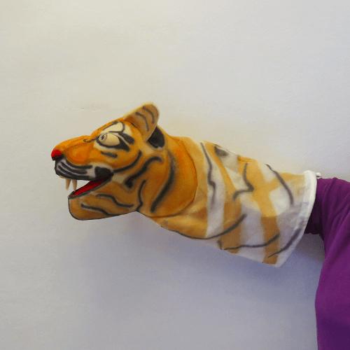 Marioneta de mano tigre