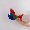 Marioneta de mano pez