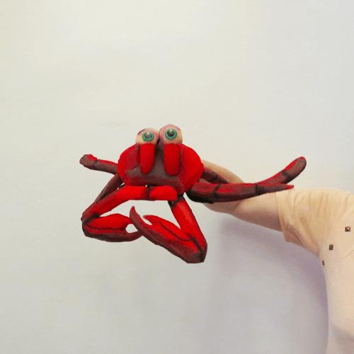 Títere de guante cangrejo